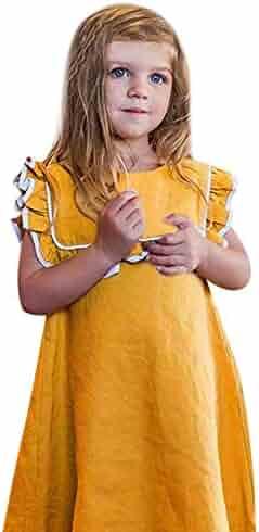 8dfce435637 Newborn Toddler Kid Fashion Clothes Baby Girl Solid Ruffles Sleeveless  Princess Dress