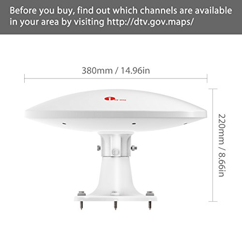 1byone Amplified Rv Antenna With Omni Directional 360