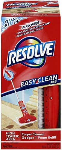 Resolve Easy Clean Pro Carpet Cleaner Gadget + Foam Spray Refill, 22 oz