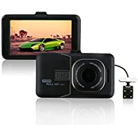 Camonity 3 Car DVR Camera Camcorder Dual Lens Dash Cam 1080P Full HD Video Recorder G-sensor Night Vision With 8GB TF Card