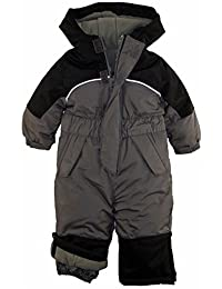 iXtreme Little Boys' Toddler Snowmobile One Piece Winter Snowsuit, Charcoal, 4T