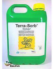 Terra-Sorb foliar. 5 litros. Fertilizante a Base de aminoácidos de Hidrólisis Enzimática. Certificado ecológico