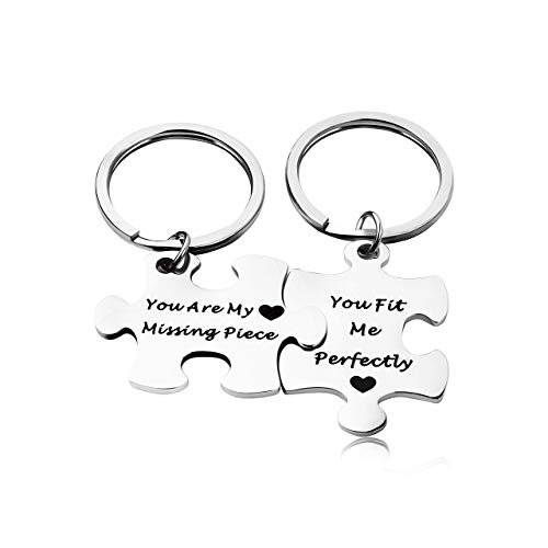 Runalp You are My Missing Piece, You Fit Me Perfectly, Hand Stamped Jewelry, Relationship Gift