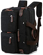 BAOSHA Convertible Briefcase Backpack 17 Inch Laptop Bag Case Business Briefcase HB-22 (Black-Grey Mixed)