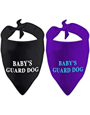 2 Pack Dog Bandana Baby's Guard Dog Pregnancy Announcement Baby Announcement Gift (Baby's Guard Dog 2 Pack)
