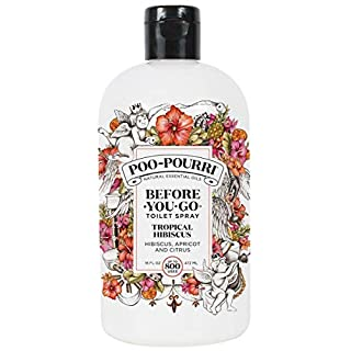 Poo-Pourri Before-You-go Toilet Spray Refill (Sprayer not Included), Tropical Hibiscus Scent, 16 Fl Oz