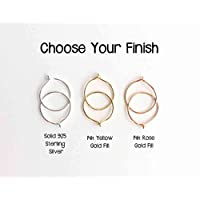 Small Hoops Your Choice Solid 925 Sterling Silver, 14k Yellow Gold Fill or 14k Rose Gold Fill Handmade Earrings 1 Pair