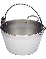 Kitchencraft Home Made Stainless Steel Maslin Pan With Handle (4.5 Litre)