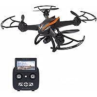 REALACC CX-35 Quadcopter Drone Wifi FPV 2.4G 4CH 6 Axis Altitude Hold Function Remote Control Drone with 720P HD 2MP Camera Drone (Black -Orange)