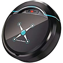 LUCKSTAR Automatic Intelligent Vacuum Cleaner Robot Sweeping Machine Noiseless Home Cleaning Tool Environmental Protection & Floor Protection (Black)
