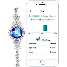 Activity tracker Pedometer Bracelet Calorie Counter Sterling Silver Jewellry Swarovski Jewelry for Women