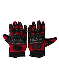 SODIAL(TM) Bicycle/Motorcycle Riding Protective Gloves Red L