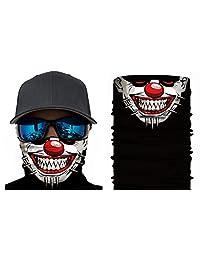 Happy Rocker Bandana Tube Face Mask Shield Spiked Clown Headband.