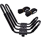 UNIVERSAL J-Bar Rack HD Kayak Carrier Canoe Boat Surf Ski Roof Top Mounted on Car SUV Crossbar
