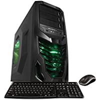 Microtel Computer AM8063 PC Liquid Cooling Gaming Computer with Intel 4.0GHz i7 6700K CPU, 32GB DDR4, 2TB 7200RPM, 480GB SSD, BluRay, Nvidia Geforce 1080 GTX 8GB GDDR5, 1000W, WiFi