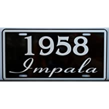 1958 58 Impala License Plate