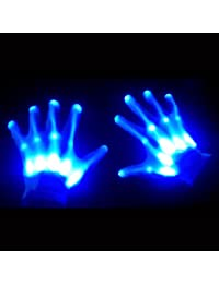 Light Up LED Skeleton Hand Gloves