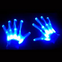 GlowCity Light Up LED Skeleton Hand Gloves