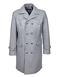 Smart Range Men's 'Wwii German U Boat' Aniline Cowhide Leather Jacket Coat