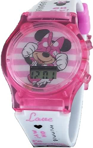 Disney Minnie Mouse Little Girl's Pink Light Up Digital Watch MN1408
