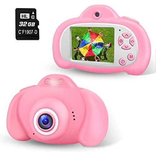 chollos oferta descuentos barato 2NLF Cámara de Fotos para Niños 2 0 LCD 8MP 1080P HD Camara Fotos Infantil con Tarjeta de Memoria Micro TF 32GB Custodia Protettiva Cámara Infantil Regalos Juguete para 3 a 12 Años