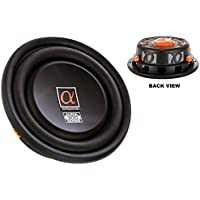 Alphasonik PSW310X 10 Shallow Mount Sub Woofer 800 Watts Dual 4-Ohm Copper Black Anodized Voice Coils with Aluminum Cone Car / Truck High Power Low Profile Flat Slim Thin Bass Speaker Subwoofer