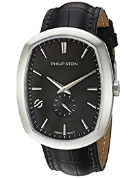 Philip Stein Men's 72-CBK-CSTAB Modern Analog Display Swiss Quartz Black Watch