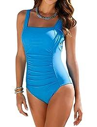 Vintage Women's Tummy Control Monokini One Piece Swimsuit Retro Bathing Suit