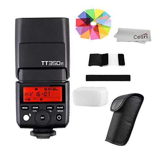 Godox TT350F Mini TTL Flash Speedlite 2.4G Wireless GN36 1/8000s HSS for Fujifilm X-Pro2, X-T20, X-T2, X-T1 DSLR Camera