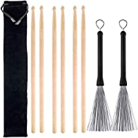 3 Pairs 5A Hard Maple Wood Drum Sticks and 1 Pair...