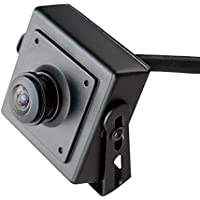 ELP IP PoE Camera mini black case wide lens HD resolution for indoor or machine vision use (180degree fisheye)