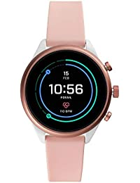 Women's Gen 4 Sport Heart Rate Metal and Silicone Touchscreen Smartwatch, Color:Blush Pink (FTW6022)