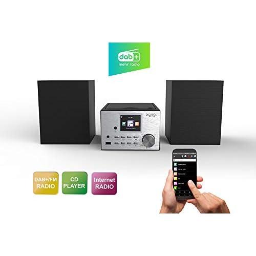 chollos oferta descuentos barato Xoro HMT 500 Microcadena Microcadena de música para Uso doméstico Negro Plata Monótono 1 Discos 20 W Dab FM UKW