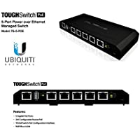 Ubiquiti TOUGHSwitch PoE - 5 Ports - Manageable - 5 x POE - 10/100/1000Base-T - Wall Mountable, Desktop - TS-5-POE