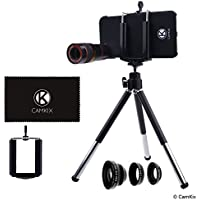 Lens Kit for Apple iPhone 7 (not suitable for iPhone 7 Plus) - 8x Telephoto Lens, Fisheye Lens, Macro Lens, Wide Angle Lens, Tripod, Phone Holder, Phone Hard Case, Bag and Cleaning Cloth