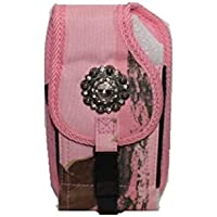 A&G Western Women's Pink BIG Phone Holster Camouflage