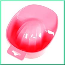Nail Art Tips Acrylic Powder Polish Remover Manicure Soaking Soaker Tray Bowl
