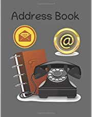 Address Book: 160 Pages, 8.5 by 11 For Contacts, Calendar, Addresses, Phone Numbers, Emails & Birthday. Big Alphabetical Organizer Journal Notebook. Over 1560 Spaces: Address Book + notebook + calendar, 160 pages, 1560 address places