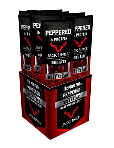 Jack Link's Premium Cuts Beef Steak, Peppered, 1-Ounce (Pack of 12)