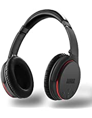 Active Noise Cancelling Bluetooth Headphones - August EP735 - Active Noise Cancelling Wireless Handset for Smartphones/Tablet/Computer - Perfect For Commuters Who Want To Block Out The Unwanted Noise - 18 Hours Playback! (Grey)