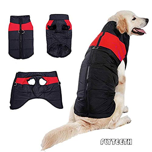Red L-9.9lb-(Chest 18.11in,Neck 14.96in,Back 11.81in) Red L-9.9lb-(Chest 18.11in,Neck 14.96in,Back 11.81in) Winter Dog Coat Waterproof Dog Coat Cotton Lined for Warmth Chest Predector Puffer Dog Puppy Clothes. (L-9.9lb-(Chest 18.11in,Neck 14.96in,Back 11.