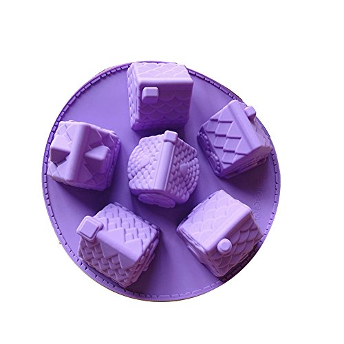 Silicone Cake Mold Muffin Bread Baking Pan Round Village House Shape Bakeware Tool Silicone Molds Baby DIY for Handmade Soap,Cake, Chocolate, Jelly Ca…