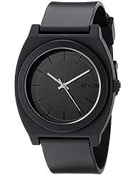 Nixon Time Teller P A119. Matte Black Men's Watch (40mm. Matte Black Poly Band/ Matte Black Watch Face)
