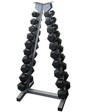 Soporte vertical para mancuernas pequeñas (solo soporte) para 10 pares