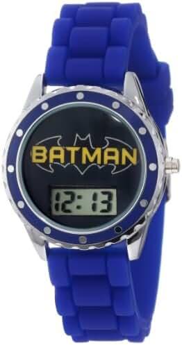Batman Kids' BAT4063 Batman Logo Blue Rubber Strap Watch
