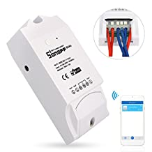 Sonoff Dual 2 gang Smart Switch Module WiFi Smart Socket Plug Works with Alexa Echo, Android iOS Remote Control Anywhere
