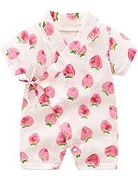44c141e86 Kimono Robe Newborn Cotton Yarn Robe Baby Romper Infant Japanese Pajamas