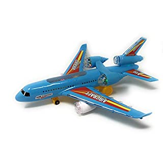 Bump-and-Go Toy Airplane | Aircraft Model for Kids |Battery Powered | Toy Electric Airbus | Realistic Design | Attractive Lights | Vibrant Color | Educational Toy | Jet Engine Sounds