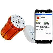 Jini Smart Weekly Pill Bottle Organizer Plus Pill Reminder App