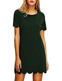 ROMWE Women's Short Sleeve Casual A-Line Mini Party Dress